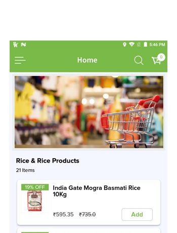 Mobile Ordering Application For Grocery Business
