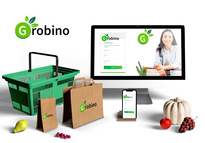Web Online Ordering Platform For Grocery Business